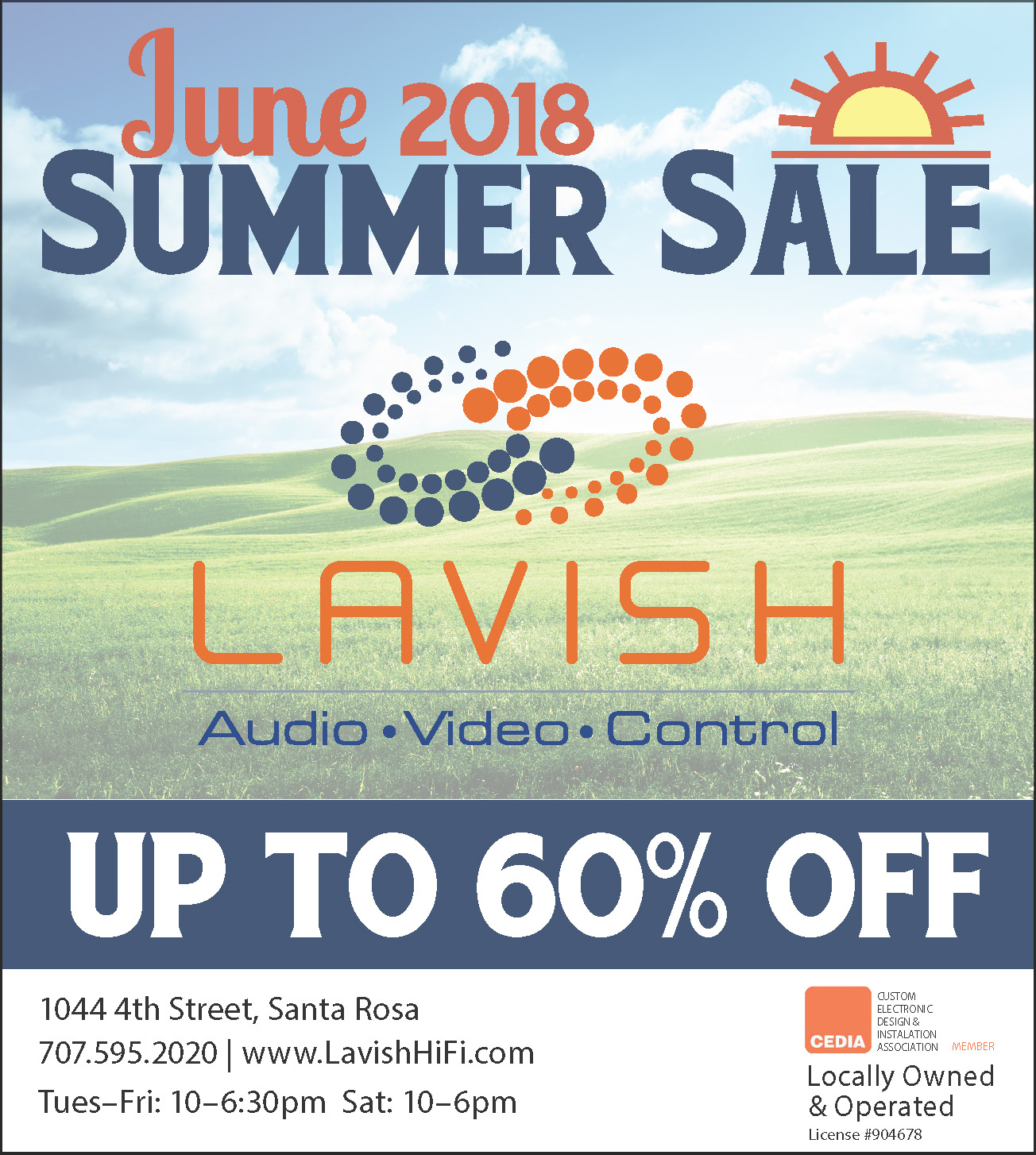 June 2018 Sale - Up to 60% off!